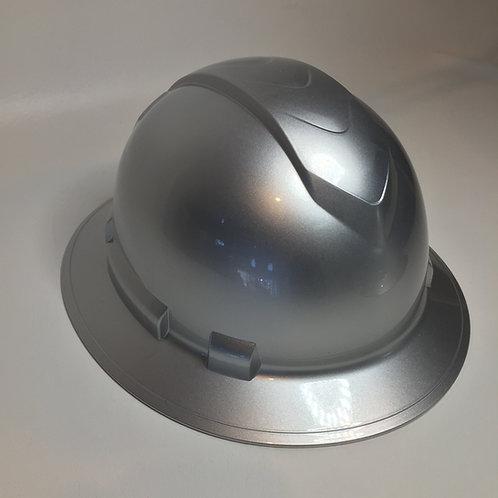 Full Brim Silver Metalic