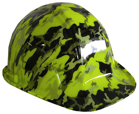Hi Vis Green SL Series Urban Camo Hard Hat