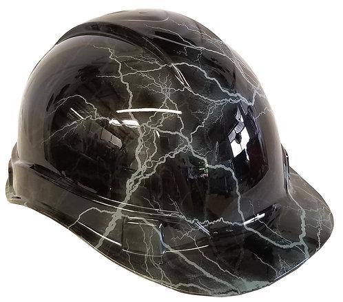 Light Grey Lightning Hard Hat