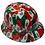 Thumbnail: Hydro Dip Mexico Flag Lift Briggs HBFC-7G Full Brim Vented Hard Hat High Gloss