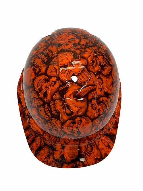 Orange Insanity Skulls Ridgeline Cap Style