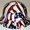 Thumbnail: Traditional American Flags Lift Briggs HBFC-7G Full Brim Vented Hard Hat High