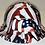 Thumbnail: Traditional American Flags Lift Briggs HBFC-7G Full Brim Vented Hard Hat High