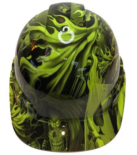 Hi Vis Green Ace Of Skulls High Gloss Ridgeline Cap Style