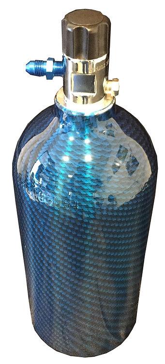 2.5 lb Nitrous Oxide Sport Carbon Bottle NOS W/ Hi-Flow Valve 14720NOS