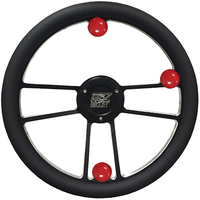 Custom RBZ Billet Racing Steering Wheel Custom 2 With 3 Buttons