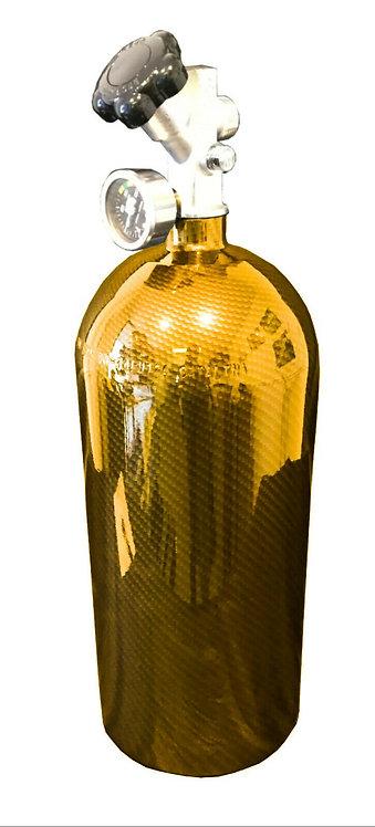 15lb HYDRO DIPPED NOS Bottle Kandy Yellow Carbon FiberW/Hi-FlowValve 14750BNOS