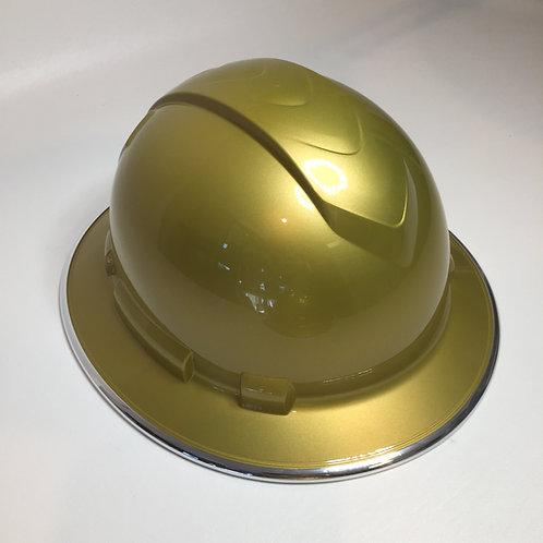 Full Brim Gold Metalic W/ Chrome EdgeGuard