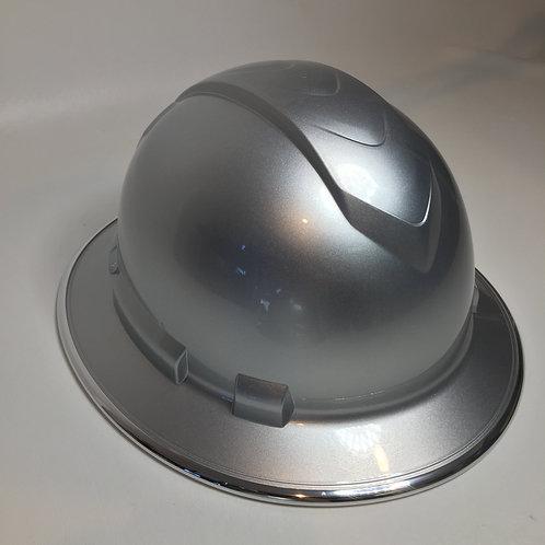 Full Brim Silver Metalic W/ Chrome EgdeGuard