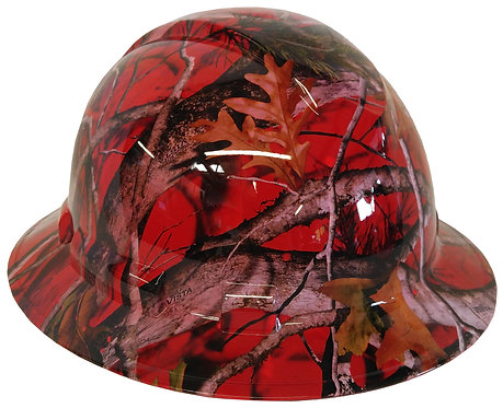 Red Vista Next Camo Full Brim Hard Hat