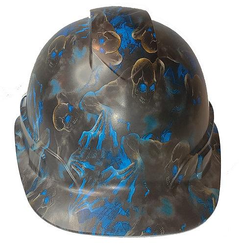 Blue Creeper Satin Ridgeline Cap Style