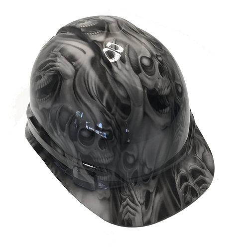 Light Grey No Evil Hard Hat
