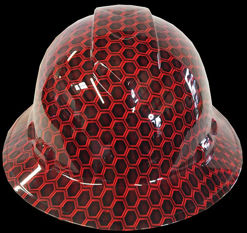 Red Hex Full Brim Hard Hat
