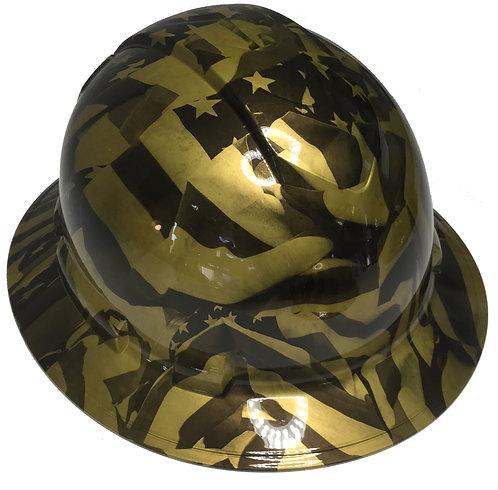 Ridgeline Full Brim Gold Metalic Midnight Flags High Gloss