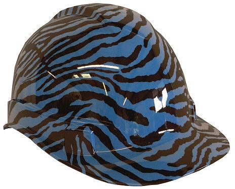 Light Blue Zebra Hard Hat