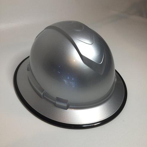 Full Brim Silver Metalic W/ Black EdgeGuard