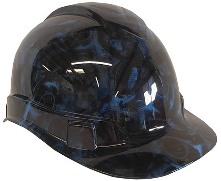 Light Blue Turbos & Pistons Hard Hat