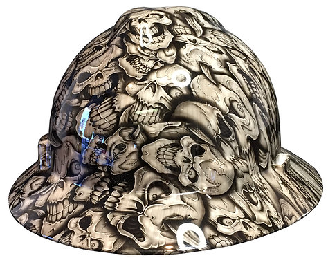 MSA V Guard Full Brim Woodgrain Insanity Skulls