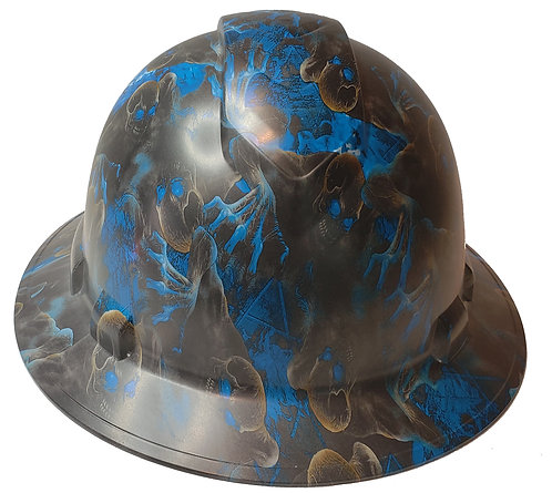 Blue Creeper Satin Ridgeline Full Brim