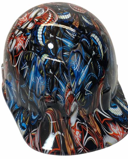 Pinstripe Colored Skulls Bump Cap