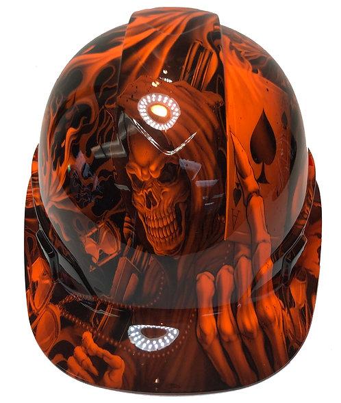Hi Vis Orange Ace Of Skulls High Gloss Ridgeline Cap Style