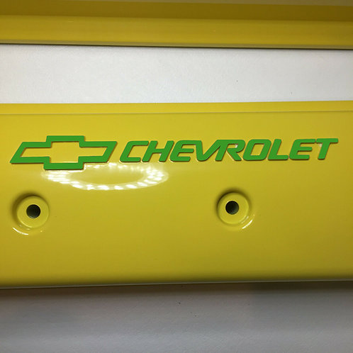 Chevy Small Block ZZ6/Vortec Center Bolt  Holley 241-290 Yellow W/ Green Letters