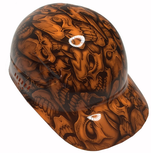 Orange Incsanity Skull Bump Cap