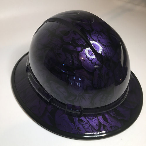 Full Brim Plum Crazy Purple Insanity Skulls W/ Black EdgeGuard