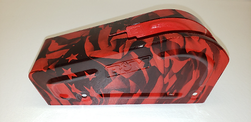B&M Shifter Cover Red American Flags Hydro dipped