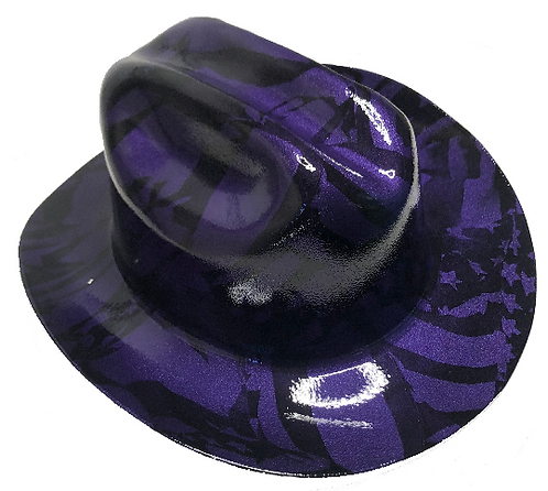 Hard Hat Kimberly Clark Outlaw Plum Crazy Purple Midnight American Flags