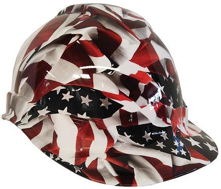 White American Flag Hard Hat