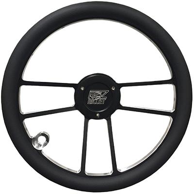 Custom RBZ Billet Racing Steering Wheel Custom 2 With 1 Button Hole
