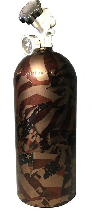 15lb Hydro Dipped NOS Bottle Copper Metallic Flags Satin W/Hi-Flow Valve 14