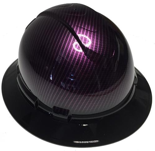 Purple Kandy Carbon Fiber W/Black Brim Ridgeline Full Brim High Gloss