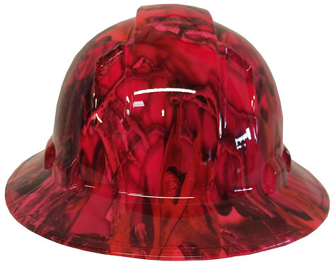 Pink Camo Full Brim Hard Hat