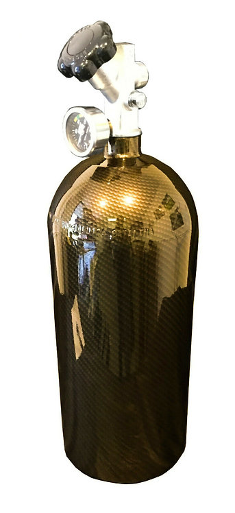 15lb Hydro Dipped NOS Bottle Gold Carbon Fiber W/Hi-Flow Valve 14750BNOS
