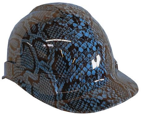 Light Blue Snakeskin Hard Hat