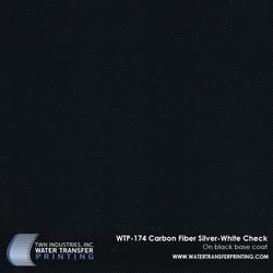 WTP-174 Carbon Fiber Silver-White Check Fade