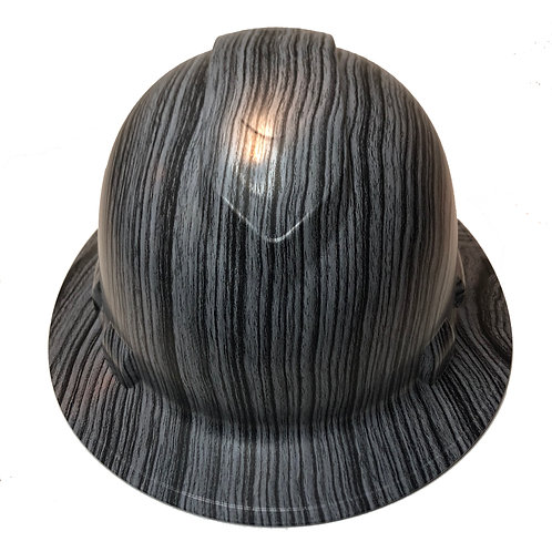 Gray And Black Straight Woodgrian Satin Ridgeline Full Brim