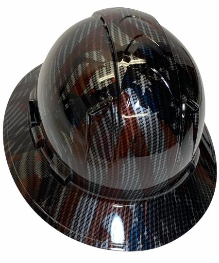 Carbon Fiber Dipped American Flags Ridgeline Full Brim