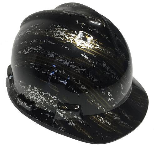 MSA V Guard Cap Style Gold Carbon Fiber Marble Splash
