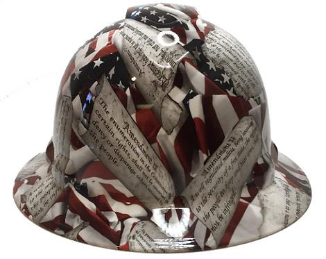 Amendments American Flags  Ridgeline Full Brim High Gloss