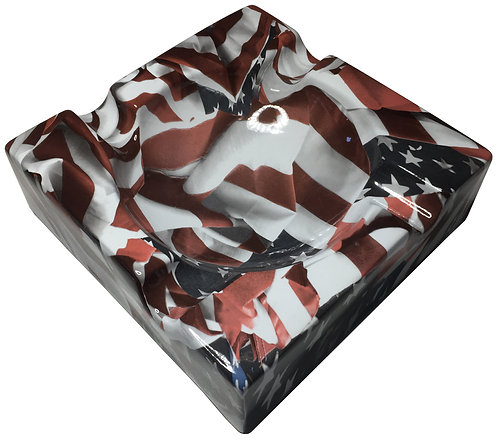 Cigar Ashtray Custom American Flags Legion Of Ash Designer Series