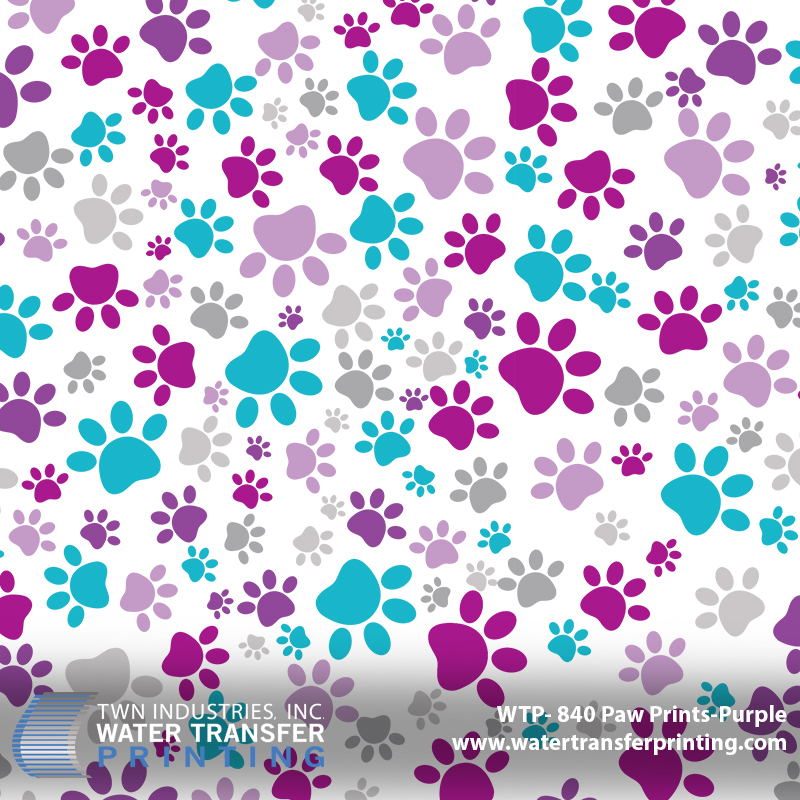 WTP-840 Paw Prints-Purple