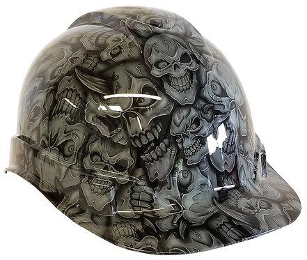 Light Grey Insanity Hard Hat