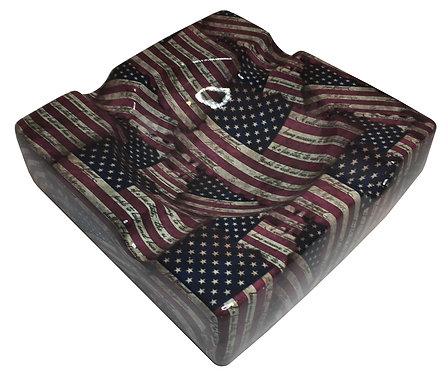 Cigar Ashtray Custom Patriotic American Flags Legion Of Ash Designer Series