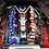 Thumbnail: Custom Hydro Dipped 2020+ Corvette Engine Cover Stars and Stripes w corvette Red