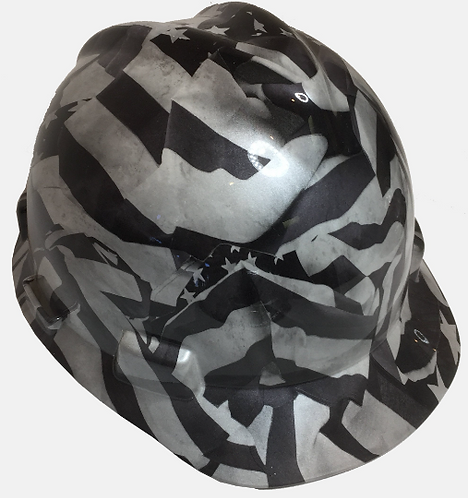Pearl White Midnight American Flags MSA Cap Style