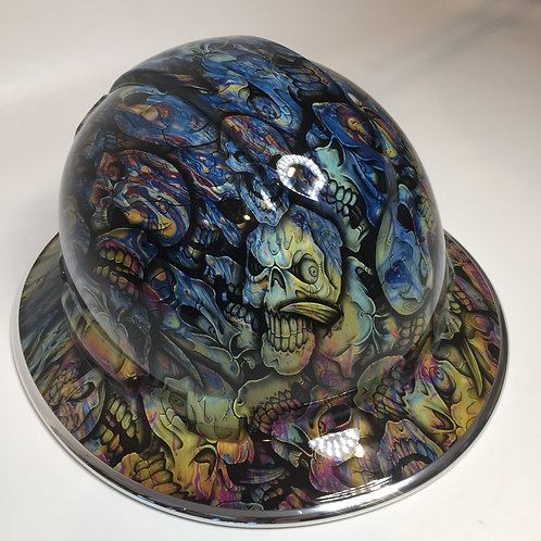 Ridgeline Full Brim Oil Slick Insanity Skulls W/ Chrome EdgeGuard
