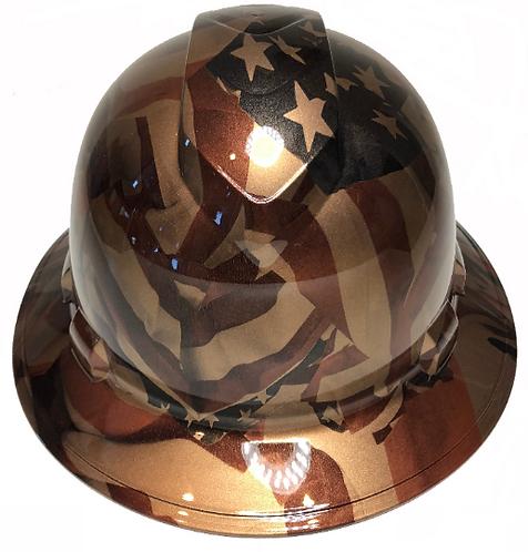 Copper Metallic American Flags Ridgeline Full Brim